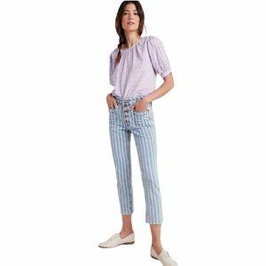 Pilcro High-Rise Slim Striped Jeans
